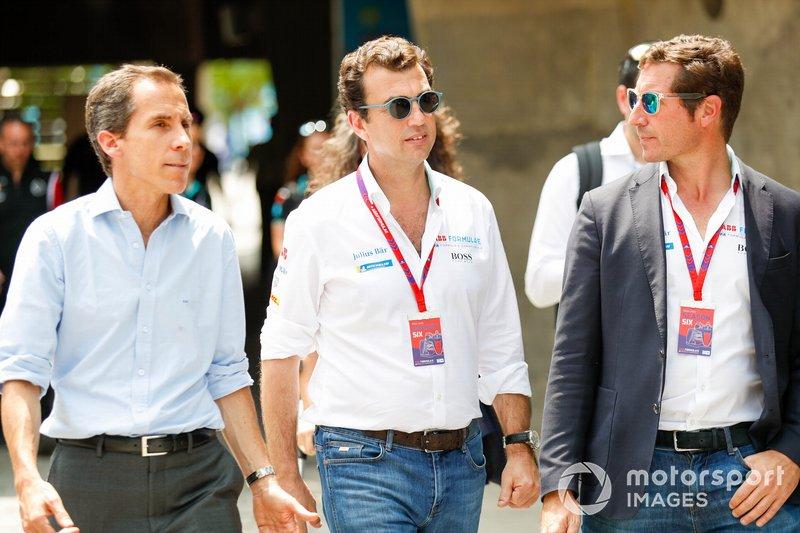 Alberto Longo, CEO of Formula E with VIP guests