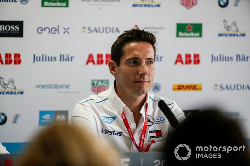Ian James, Team Principal, Mercedes Benz EQ in the press conference
