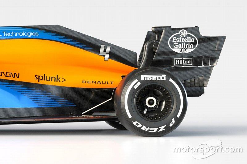McLaren MCL35 achterkant detail