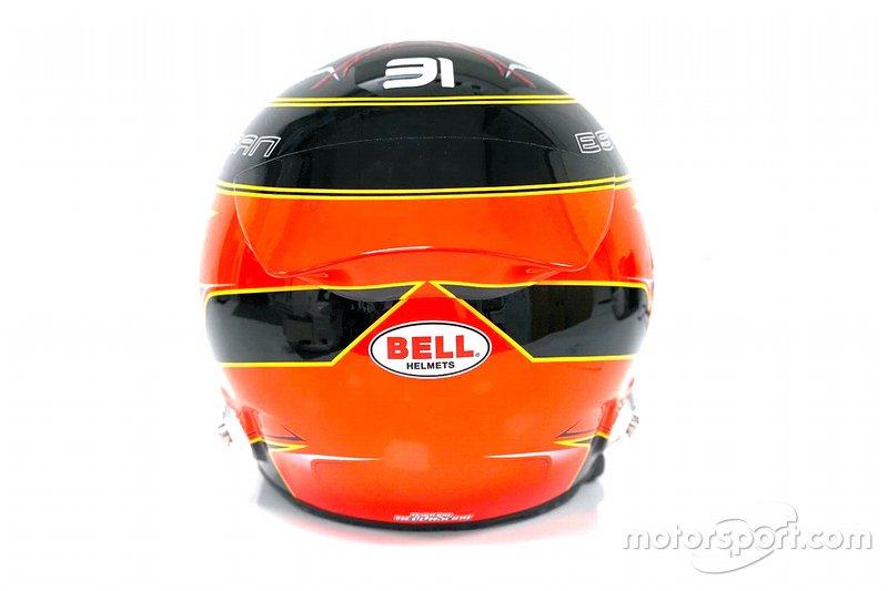 Le casque d'Esteban Ocon, Renault F1 Team