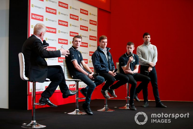 The BRDC Superstars are interviewed onstage