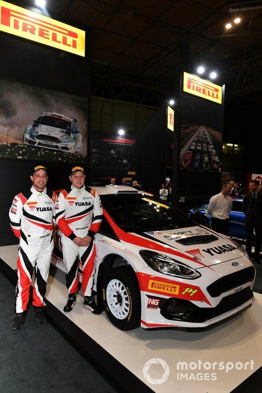 Darren Garrod and Matt Edwards at the Pirelli Rally tyre launch