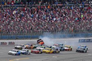 Crash: Chris Buescher, JTG Daugherty Racing, Chevrolet Camaro Louisiana Hot Sauce