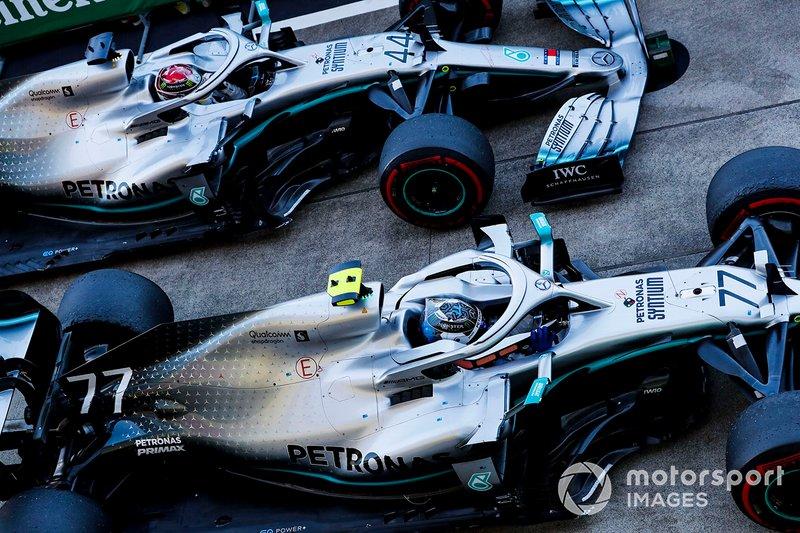 Valtteri Bottas, Mercedes AMG W10 y Lewis Hamilton, Mercedes AMG F1 W10