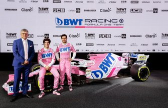 Sergio Perez, Racing Point, Lance Stroll, Racing Point, Otmar Szafnauer, Team Principal and CEO, Racing Point
