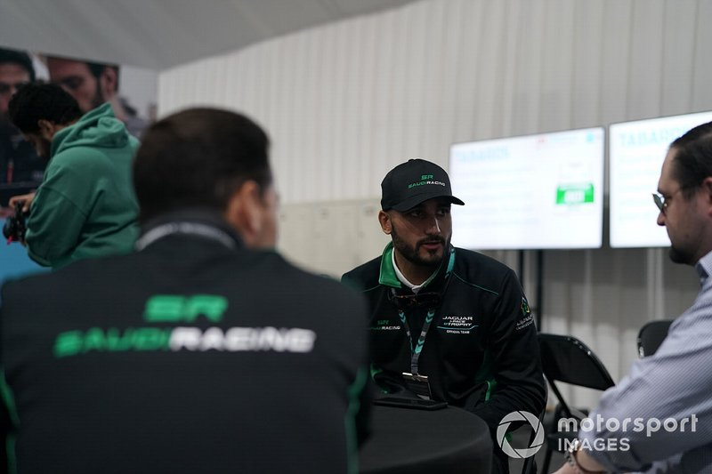 Fahad Algosaibi, Saudi Racing being interviewed by the media