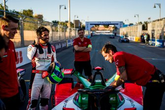 Lucas Di Grassi, Audi Sport ABT Schaeffler on the grid with his team