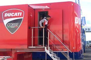 Johann Zarco, Team LCR Honda with Gigi Dall'Igna, Ducati general director and Paolo Ciabatti Ducati sports director
