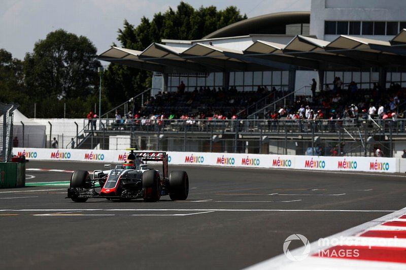 Esteban Gutierrez, Haas VF-16 Ferrari, al GP del Messico del 2016