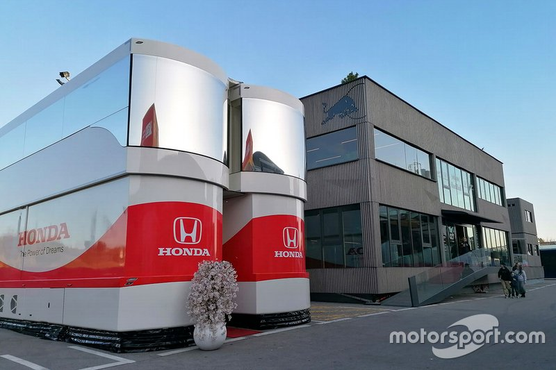 Honda and Red Bull Racing motorhome