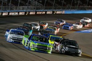 Chandler Smith, Kyle Busch Motorsports, Toyota Tundra iBUYPOWER\828 Logistics and Ben Rhodes, ThorSport Racing, Ford F-150