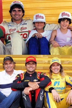 Nelson Piquet, Nelsinho Piquet e Bia Figueiredo