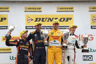 Podium, Dan Cammish, Team Dynamics Honda Civic, Andrew Jordan, WSR BMW, Tom Chilton, Motorbase Performance Ford Focus and Colin Turkington, WSR BMW