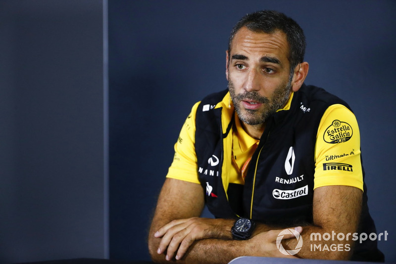 Cyril Abiteboul, Managing Director, Renault Sport F1 Team, in conferenza stampa