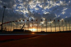 Sunset over Olympic Couldron at Olympic Park