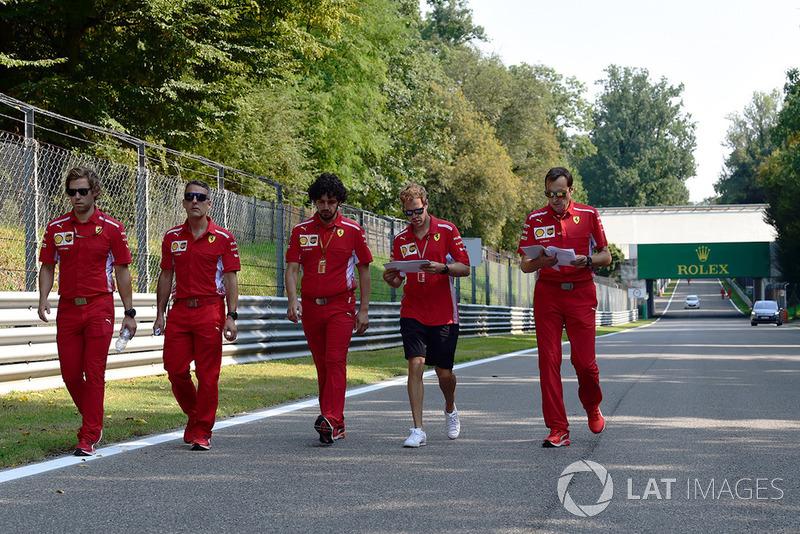 Ознакомление с трассой: Себастьян Феттель, Ferrari