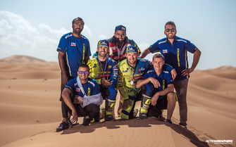 Sherco TVS team celebrates win