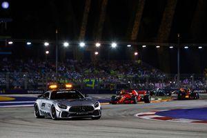 Güvenlik aracı, Lewis Hamilton, Mercedes AMG F1 W09 EQ Power+, Sebastian Vettel, Ferrari SF71H, Max Verstappen, Red Bull Racing RB14, Valtteri Bottas, Mercedes AMG F1 W09 EQ Power+