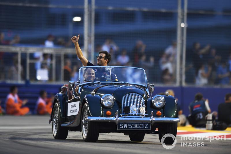 Daniel Ricciardo, Red Bull Racing en el desfile de pilotos