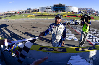 Ross Chastain, Chip Ganassi Racing, Chevrolet Camaro DC Solar celebrates after winning