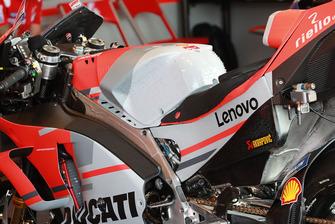 Andrea Dovizioso, Ducati Team, detail van de motor