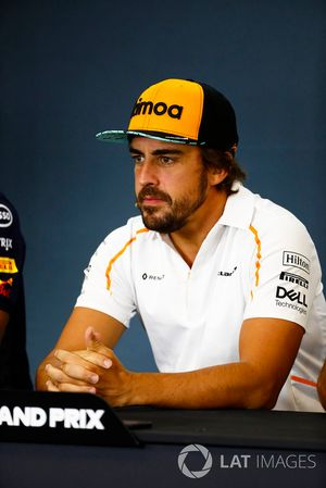 Fernando Alonso, McLaren, in the Thursday press conference