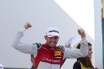 Podium: Winnaar René Rast, Audi Sport Team Rosberg