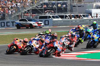 Jorge Lorenzo, Ducati Team leads at the start