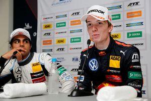 Press conference, Dan Ticktum, Motopark Dallara F317 - Volkswagen, Enaam Ahmed, Hitech Bullfrog GP Dallara F317 - Mercedes-Benz