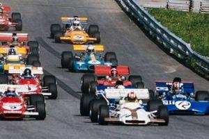 Jo Siffert, British Racing Motors P160, Clay Regazzoni, Ferrari 312B2, Jackie Stewart, Tyrrell 003 Ford, François Cevert, Tyrrell 002 Ford