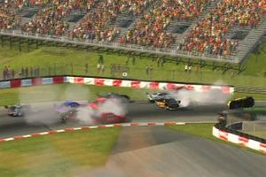 Race 2 start crash