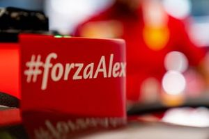 Forza Alex message on the Ferrari SF1000