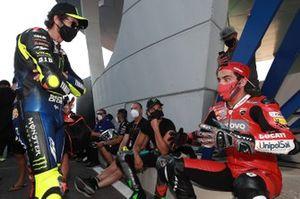 Valentino Rossi, Yamaha Factory Racing, Danilo Petrucci, Ducati Team