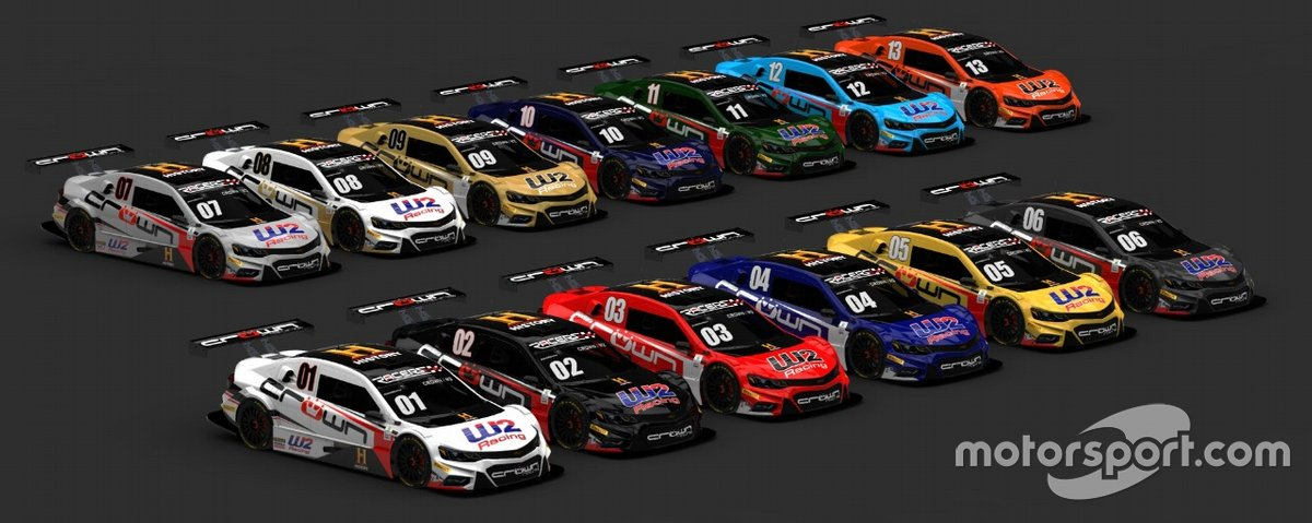 Carros para a seletiva Crown e W2 Racing no Automobilista