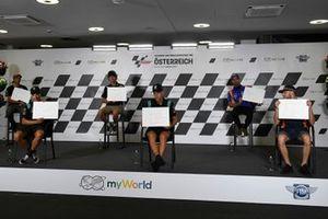 Johann Zarco, Avintia Racing, Franco Morbidelli, Petronas Yamaha SRT, Valentino Rossi, Yamaha Factory Racing, Fabio Quartararo, Petronas Yamaha SRT, Miguel Oliveira, Red Bull KTM Tech 3, Brad Binder, Red Bull KTM Factory Racing