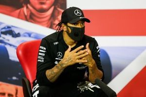 Lewis Hamilton, Mercedes-AMG Petronas F1, in conferenza stampa
