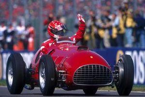 Michael Schumacher drives the Ferrari 375