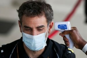 Cyril Abiteboul, Managing Director, Renault F1 Team is temperature checked