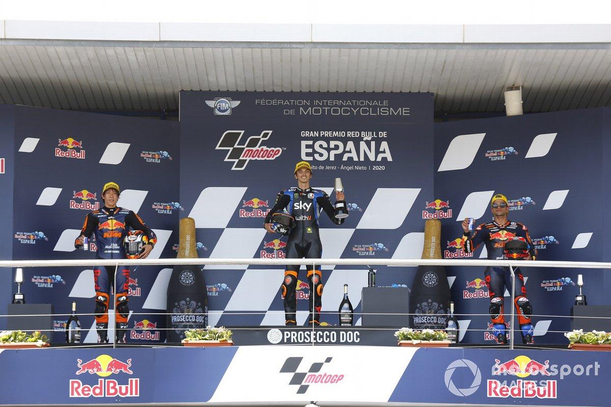 Tetsuta Nagashima, Red Bull KTM Ajo, Luca Marini, Sky Racing Team VR46, Jorge Martin, Red Bull KTM Ajo