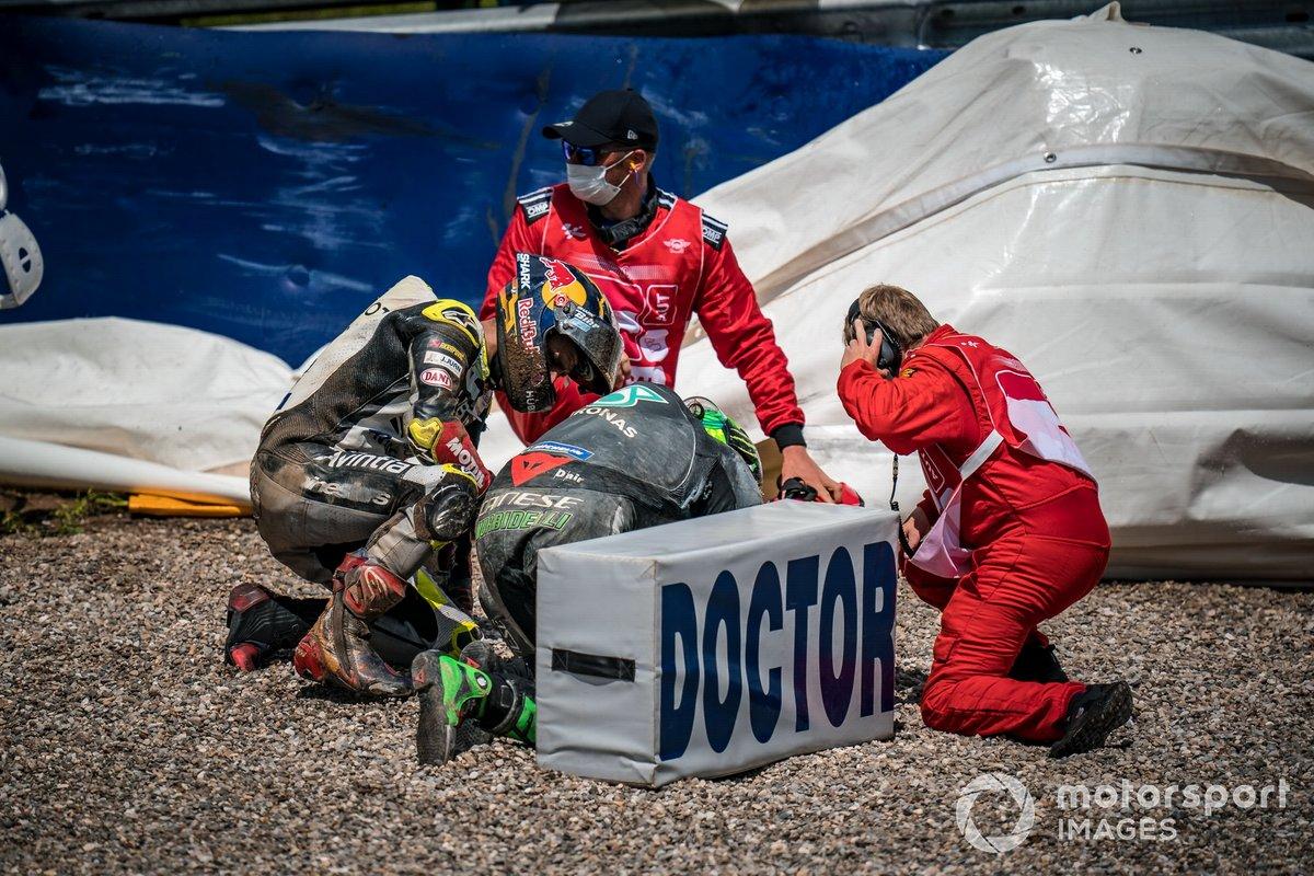 L'incidente di Franco Morbidelli, Petronas Yamaha SRT