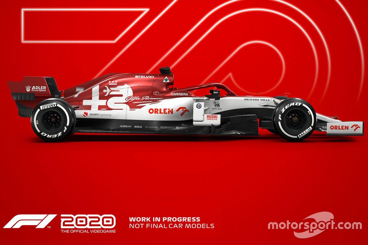 El Alfa Romeo de 2020 en 'F1 2020'