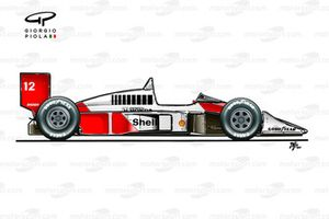 Lateral del McLaren MP4/4