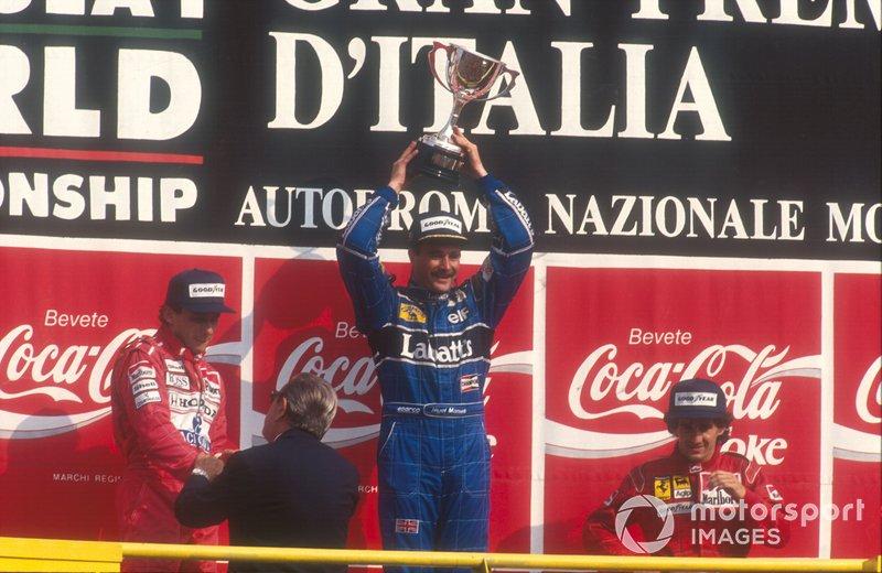 9. Nigel Mansell-Ayrton Senna-Alain Prost: 7