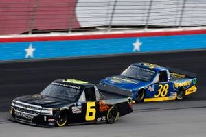 Norm Benning, Norm Benning Racing Chevrolet Silverado H & H Transport and Todd Gilliland, Front Row Motorsports, Ford F-150 Speedco
