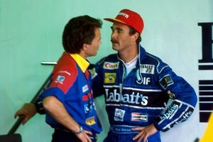 Nigel Mansell, Williams habla con el director del equipo de Williams Peter Windsor
