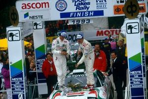 Winners Juha Kankkunen, Denis Giraudet, Toyota Celica Turbo 4WD