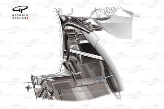 Il diffusore della Haas F1 Team VF-20