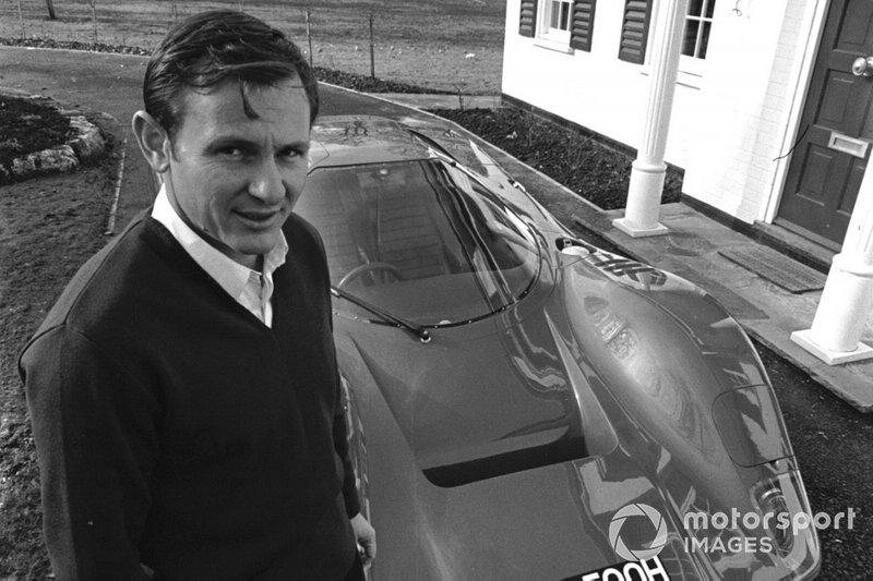Bruce McLaren, with the Mclaren M6GT