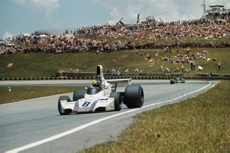 Carlos Pace, Brabham BT44B Ford taking his maiden and only Grand Prix win