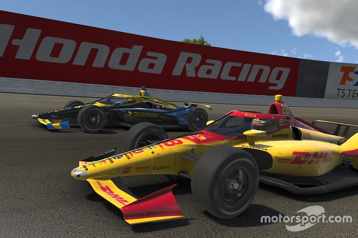 Ryan Hunter-Reay, Andretti Autosport, Zach Veach, Andretti Autosport